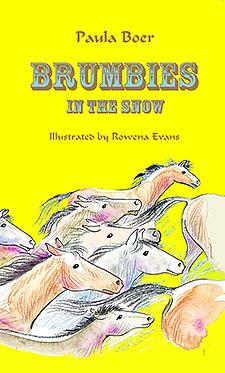 Brumbies in the Snow by Paula Boer