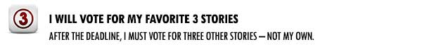I will vote for my favorite 3 stories