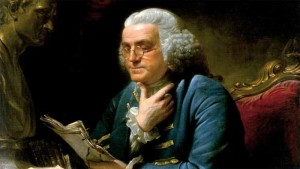 benjamin franklin 300x169 United States Legal Issues English Language  A New Constitution