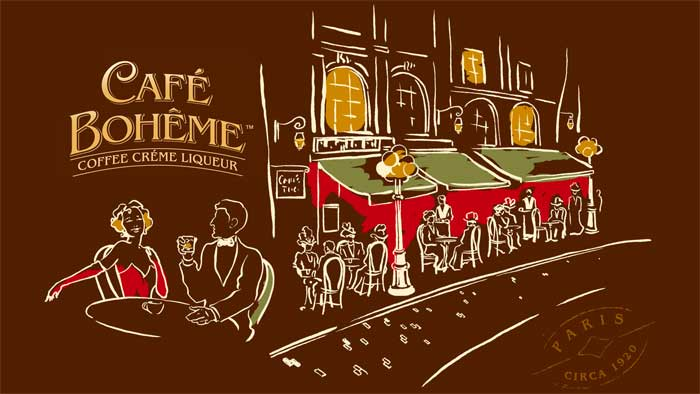 cafe boheme I Take Mine Black and White