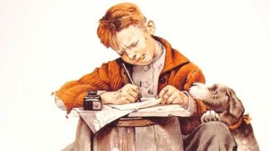 writer by Norman Rockwell 300x168 Online Writing Book Publishing  Self Publishing Flooding