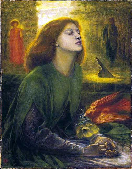 Dante Gabriel Rossetti Beata Beatrix 1863 Prose and Verse Poets and Writers Poetry Online  My Ode to Poetry