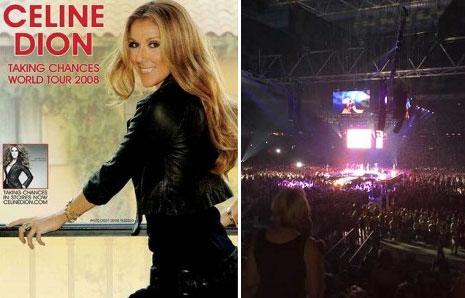 celine, Celine Dion in the Amsterdam ArenA (The Netherlands)