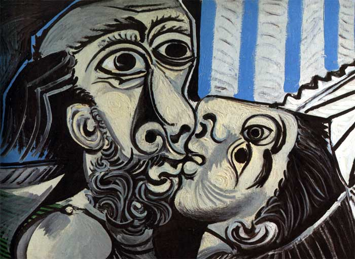 Two Lovers - picasso-the-kiss