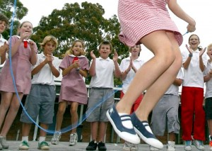 Skip Rope, Skipping Rope and Laughing