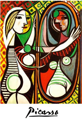 Review: Sculpting the Heart's Poetry - Girl before Mirror-Picasso
