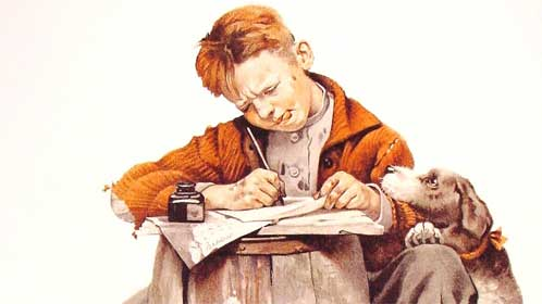 writer-by-Norman-Rockwell