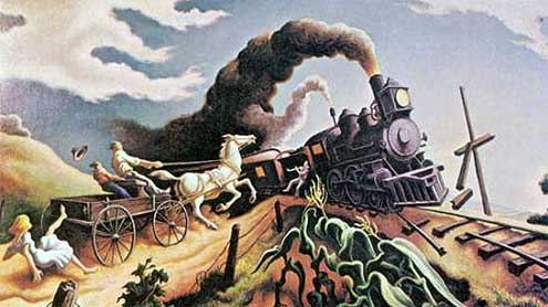 Thomas-Hart-Benton-Wreck-of-the-Ole-97-Train
