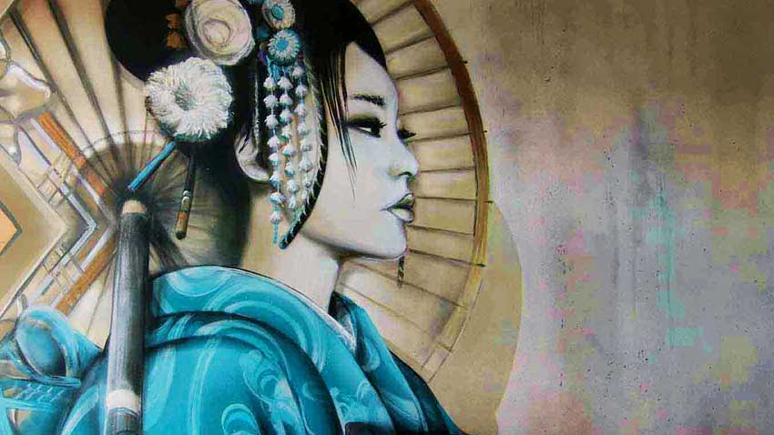 The Painters - geisha mural