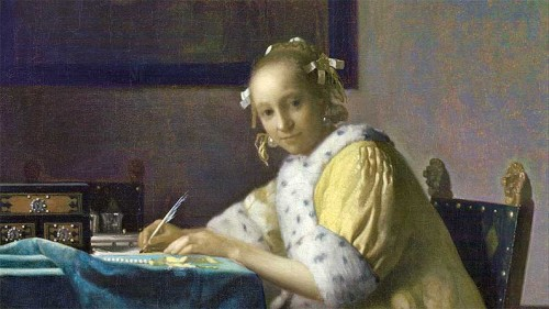 Lady-Writing-a-Letter-by-Vermeer