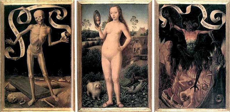 Earthly Vanity and Divine Salvation by Hans Memling - Tempus Fugit