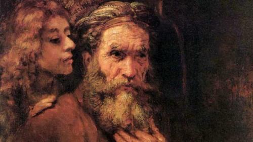 Evangelist Matthew and the Angel by Rembrandt