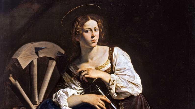 Katherine Mass - Saint Catherine by Caravaggio 1598