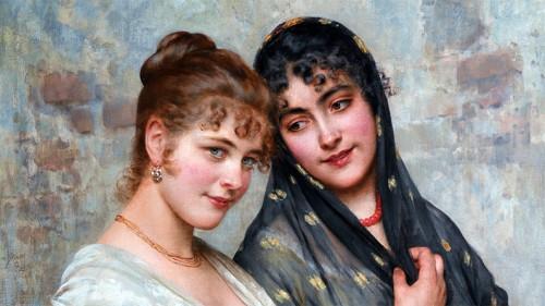 Sweetly Adrift - Eugen von Blaas - Two Venetian Women (1898)