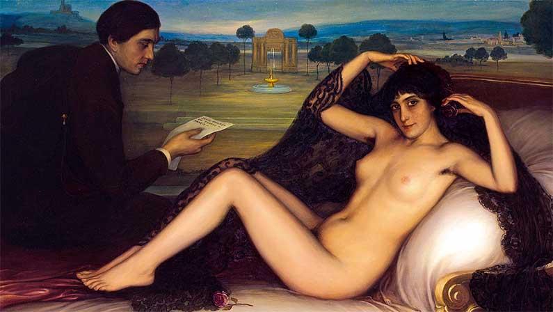 Our Children, Our Future - Julio Romero de Torres - Venus of Poetry (1913)