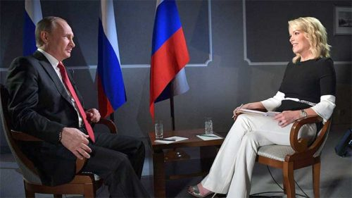 Vladimir Putin and Megyn Kelly
